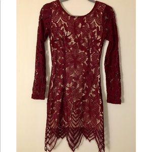 It is a dress burgundy color.